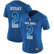 Wholesale Cheap Nike Giants #2 Aldrick Rosas Royal Women's Stitched NFL Limited NFC 2019 Pro Bowl Jersey