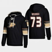 Wholesale Cheap Anaheim Ducks #73 Andy Welinski Black adidas Lace-Up Pullover Hoodie