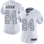 Wholesale Cheap Nike Raiders #24 Johnathan Abram White Women's Stitched NFL Limited Rush Jersey