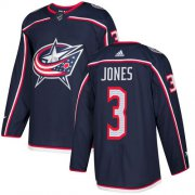 Wholesale Cheap Adidas Blue Jackets #3 Seth Jones Navy Blue Home Authentic Stitched Youth NHL Jersey