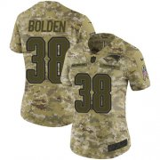 Wholesale Nike Patriots #54 Dont'a Hightower Camo Women's Stitched NFL Limited 2018 Salute to Service Jersey