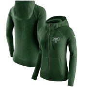 Wholesale Cheap New York Jets Nike Women's Gym Vintage Full-Zip Hoodie Green
