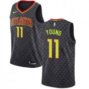 Wholesale Cheap Hawks #11 Trae Young Black Basketball Swingman Icon Edition Jersey