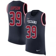 Wholesale Cheap Nike Texans #39 Tashaun Gipson Navy Blue Team Color Men's Stitched NFL Limited Rush Tank Top Jersey