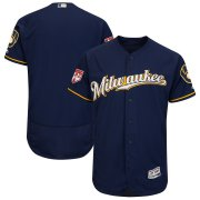 Wholesale Cheap Brewers Blank Navy 2019 Spring Training Flex Base Stitched MLB Jersey