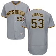 Wholesale Cheap Pirates #53 Melky Cabrera Grey Flexbase Authentic Collection Stitched MLB Jersey
