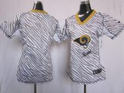 Wholesale Cheap Nike Rams Blank Zebra Women's Stitched NFL Elite Jersey