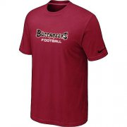 Wholesale Cheap Nike Tampa Bay Buccaneers Sideline Legend Authentic Font Dri-FIT NFL T-Shirt Red