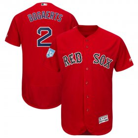 Wholesale Cheap Red Sox #2 Xander Bogaerts Red 2019 Spring Training Flex Base Stitched MLB Jersey