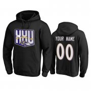 Wholesale Cheap Baltimore Ravens Custom Men's Black Team 25th Season Pullover Hoodie