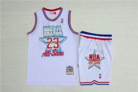 Wholesale Cheap Bulls #23 Michael Jordan White 1992 All-Star Hardwood Claasics Jersey(With Shorts)
