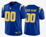 Wholesale Cheap Men's Los Angeles Chargers Customized Electric 2020 New Royal Vapor Untouchable Stitched Limited Jersey