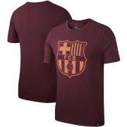 Wholesale Cheap Barcelona Nike Team Crest T-Shirt Maroon