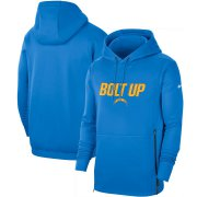 Wholesale Cheap Los Angeles Chargers Nike Sideline Local Performance Pullover Hoodie Powder Blue