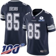 Wholesale Cheap Nike Cowboys #85 Noah Brown Navy Blue Team Color Men's Stitched With Established In 1960 Patch NFL 100th Season Vapor Untouchable Limited Jersey