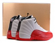 Wholesale Cheap Air Jordan 12 Retro Away White/Fire red