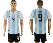 Wholesale Cheap Argentina #9 Icardi Home Soccer Country Jersey