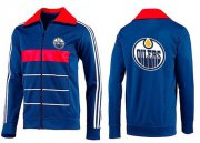 Wholesale Cheap NHL Edmonton Oilers Zip Jackets Blue-5