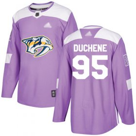 Wholesale Cheap Adidas Predators #95 Matt Duchene Purple Authentic Fights Cancer Stitched NHL Jersey