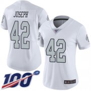 Wholesale Cheap Nike Raiders #42 Karl Joseph White Women's Stitched NFL Limited Rush 100th Season Jersey