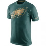 Wholesale Cheap Men's Philadelphia Eagles Nike Midnight Green Championship Drive Gold Collection Performance T-Shirt
