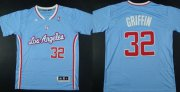 Wholesale Cheap Los Angeles Clippers #32 Blake Griffin Revolution 30 Swingman 2013 Blue Jersey