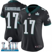 Wholesale Cheap Nike Eagles #17 Harold Carmichael Black Alternate Super Bowl LII Women's Stitched NFL Vapor Untouchable Limited Jersey