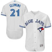 Wholesale Cheap Blue Jays #21 Roger Clemens White Flexbase Authentic Collection Stitched MLB Jersey