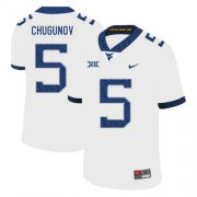 Wholesale Cheap West Virginia Mountaineers 5 Chris Chugunov White College Football Jersey