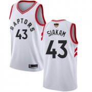 Wholesale Cheap Raptors #43 Pascal Siakam White 2019 Finals Bound Basketball Swingman Association Edition Jersey