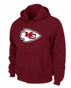 Wholesale Cheap Kansas City Chiefs Logo Pullover Hoodie Red