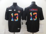Wholesale Cheap Men's New Orleans Saints #13 Michael Thomas Multi-Color Black 2020 NFL Crucial Catch Vapor Untouchable Nike Limited Jersey