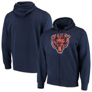 Wholesale Cheap Chicago Bears G-III Sports by Carl Banks Primary Logo Full-Zip Hoodie Navy