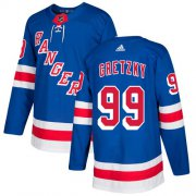 Wholesale Cheap Adidas Rangers #99 Wayne Gretzky Royal Blue Home Authentic Stitched Youth NHL Jersey