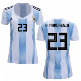 Wholesale Cheap Women\'s Argentina #23 A.Marchesin Home Soccer Country Jersey