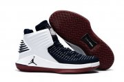 Wholesale Cheap Air Jordan 32 XXXII Shoes White/Deep Blue-Red