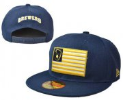 Wholesale Cheap MLB Milwaukee Brewers Marvel Adjustable Snapback LH ID-W2339