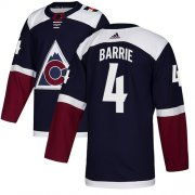 Wholesale Cheap Adidas Avalanche #4 Tyson Barrie Navy Alternate Authentic Stitched Youth NHL Jersey