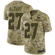 Wholesale Cheap Nike Texans #27 Jose Altuve Camo Men's Stitched NFL Limited 2018 Salute To Service Jersey