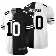 Cheap San Francisco 49ers #10 Jimmy Garoppolo Men's Black V White Peace Split Nike Vapor Untouchable Limited NFL Jersey