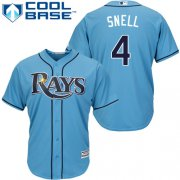 Wholesale Cheap Rays #4 Blake Snell Light Blue Cool Base Stitched Youth MLB Jersey