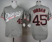 Wholesale Cheap White Sox #45 Michael Jordan Grey New Cool Base Stitched MLB Jersey