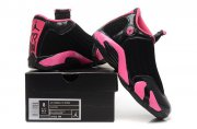 Wholesale Cheap WMNS Air Jordan 14 Shoes Black/pink