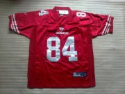 Wholesale Cheap 49ers #84 Randy Moss Red Stitched NFL Jersey