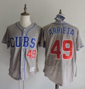 Wholesale Cubs #49 Jake Arrieta Grey Flexbase Authentic Collection Alternate Road Stitched Baseball Jersey