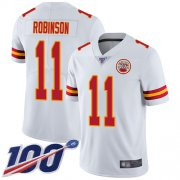 Wholesale Cheap Nike Chiefs #11 Demarcus Robinson White Youth Stitched NFL 100th Season Vapor Limited Jersey