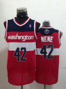 Wholesale Cheap Washington Wizards #42 Nene Hilario Red Swingman Jersey