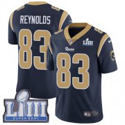 Wholesale Cheap Nike Rams #83 Josh Reynolds Navy Blue Team Color Super Bowl LIII Bound Men's Stitched NFL Vapor Untouchable Limited Jersey