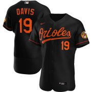 Wholesale Cheap Baltimore Orioles #19 Chris Davis Men's Nike Black Alternate 2020 Authentic Player MLB Jersey