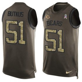 Wholesale Cheap Nike Bears #51 Dick Butkus Green Men\'s Stitched NFL Limited Salute To Service Tank Top Jersey